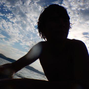 Swimming before sundown